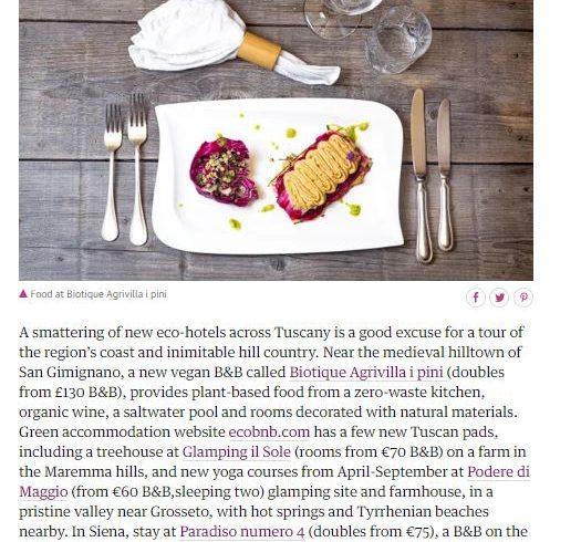 Articolo Ecobnb The Guardian