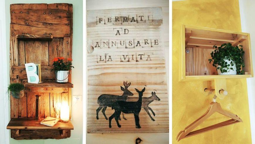 esempi di riciclo creativo all'ecobnb Botton d'Oro