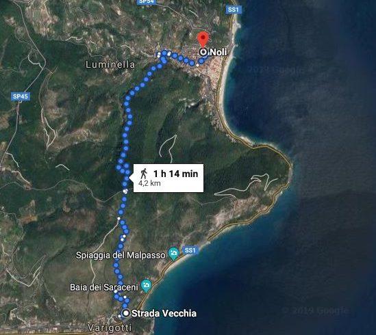 Sentiero del Pellegrino mappa itinerario