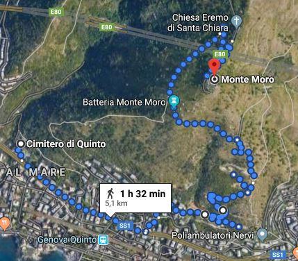 Monte Moro mappa itinerario