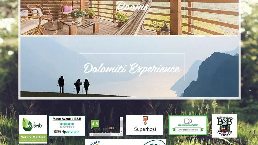 sito internet con banner di Ecobnb