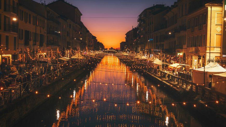 Navigli di Milano di sera