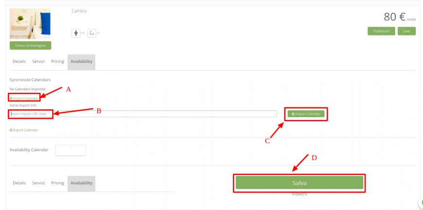 9 importare calendario disponibilità ical
