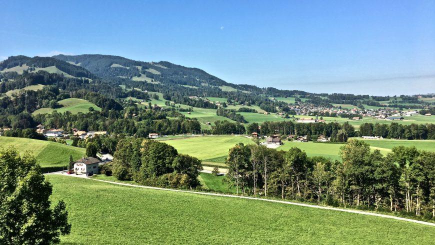paesaggio verde con aria pulita