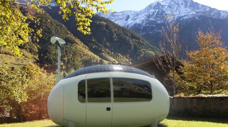 Eco-Capsule, un ecohotel minimalista in Svizzera