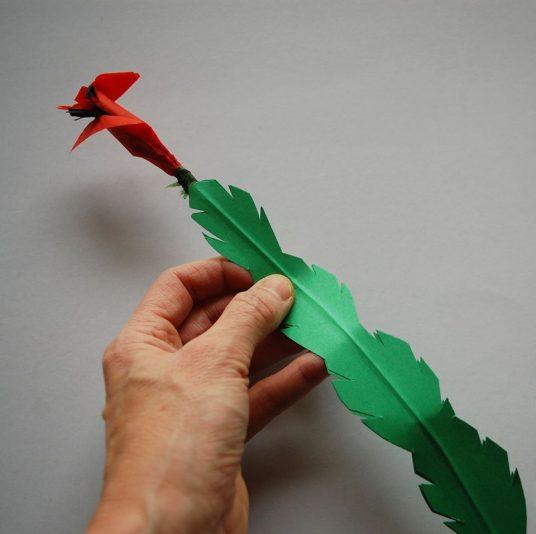 fiore carta modellato