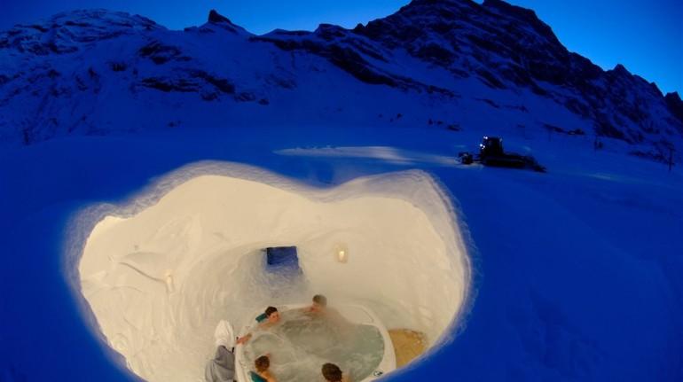 EcoHotel di ghiaccio, in Svizzera