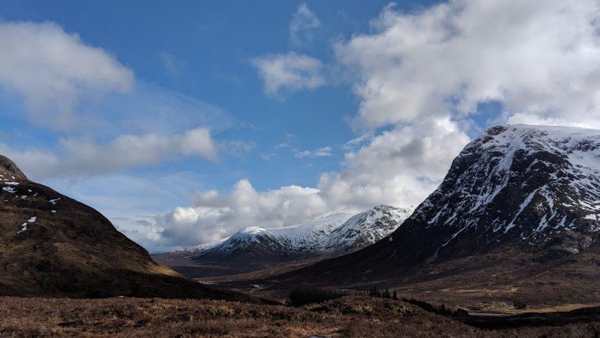 montagne lungo la lungo la West Highland Way in Scozia
