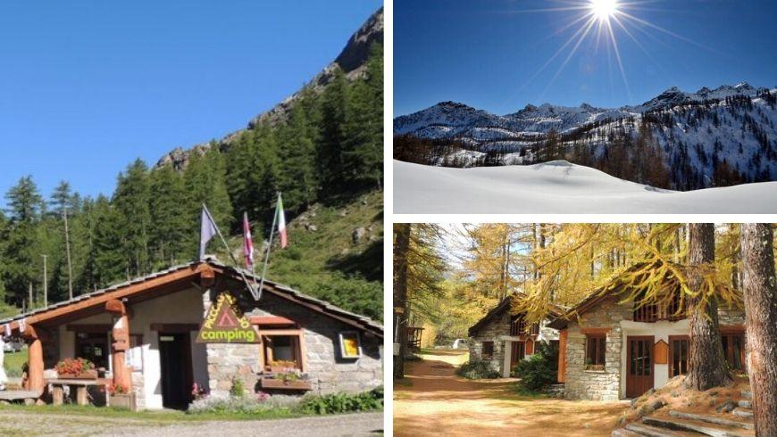 campeggio ecologico in montagna