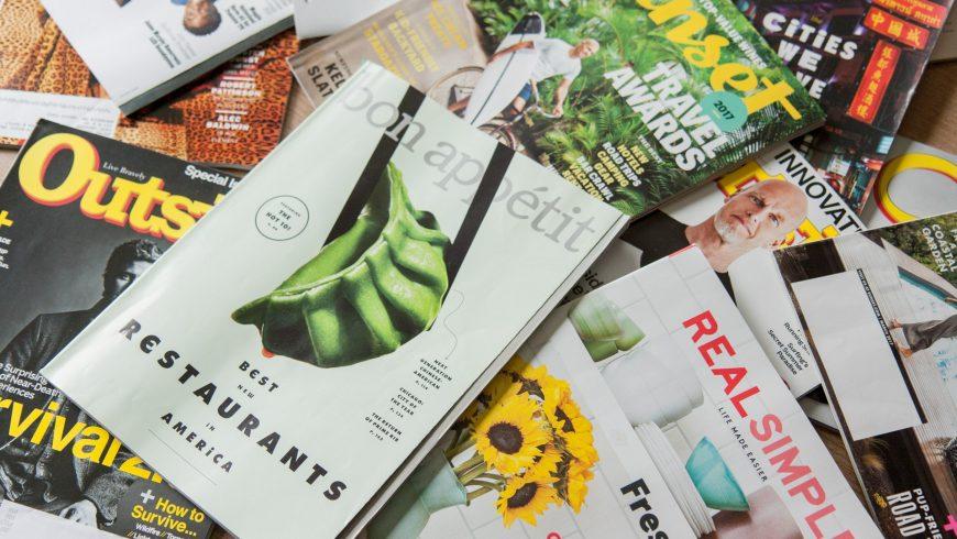 carta riciclata di vecchie riviste da usare per il compostage
