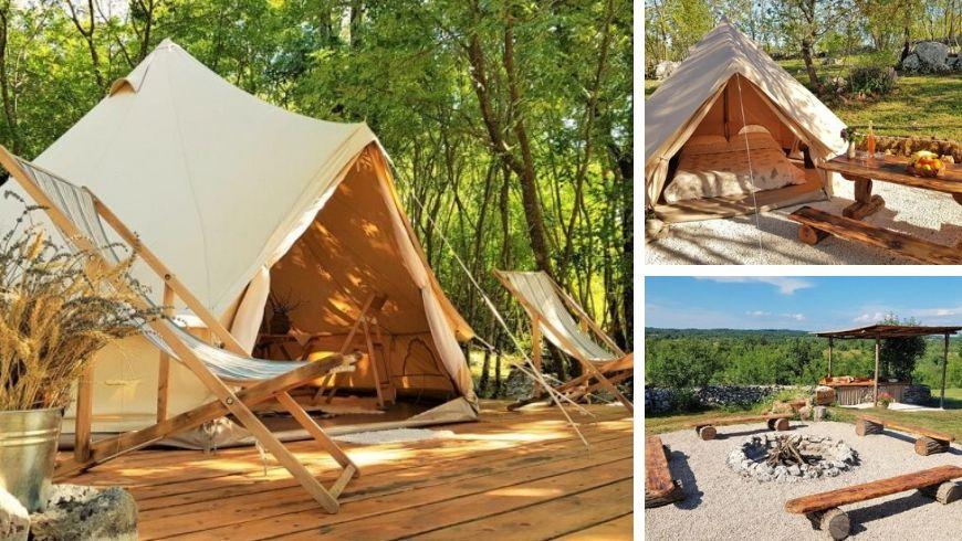tende eco camping nella natura