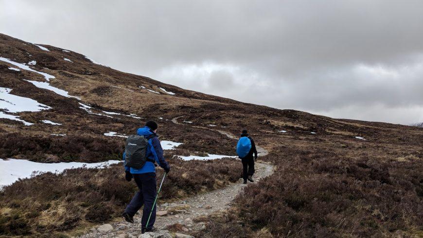 sentiero lungo la West Highland Way in Scozia
