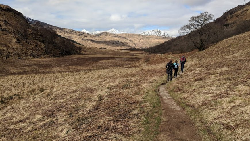 valle lungo la West Highland Way in Scozia