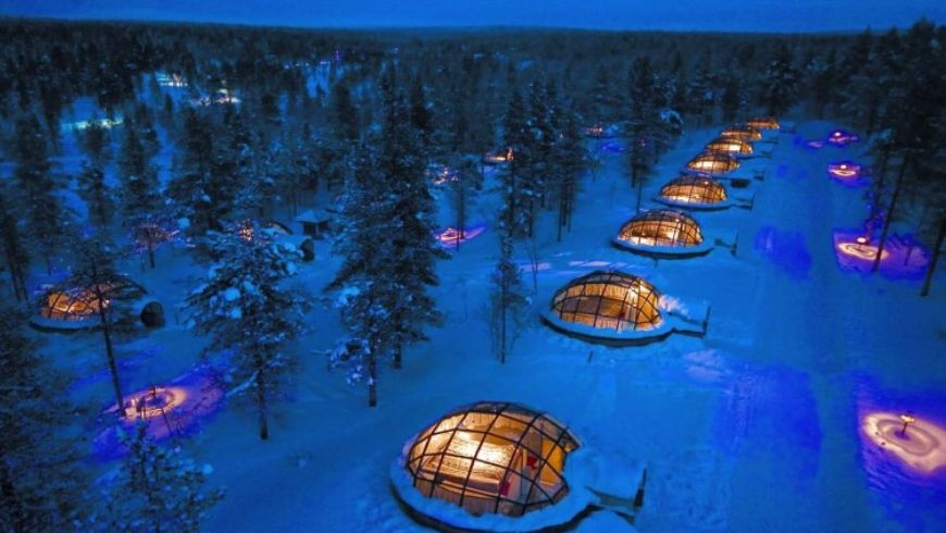igloo eco-village in finlandia