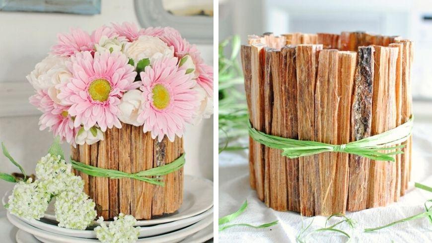 centrotavola in legno per pasqua