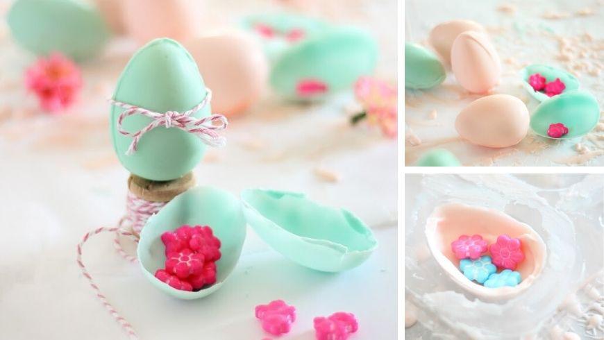 decorazioni pasquali uova di cioccolato