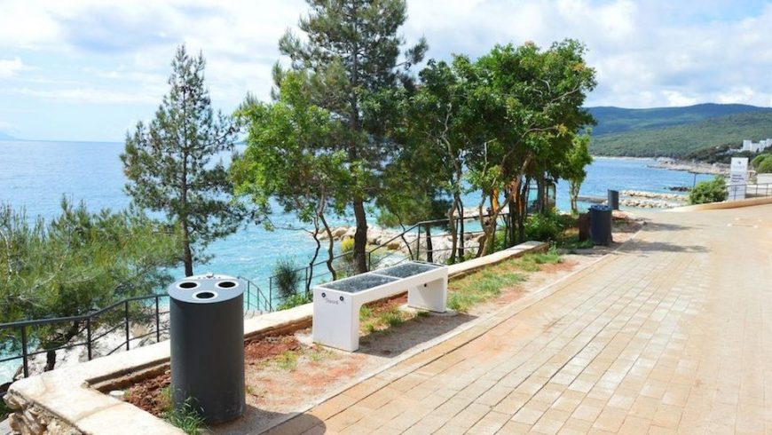 Girandella, spiaggia eco-friendly a Rabac, in Istria