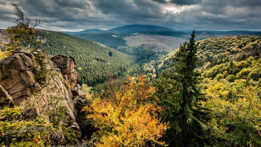 Vista sul Brocken - la montagna più alta dell'Harz (Foto: Mirko Lehmann)
