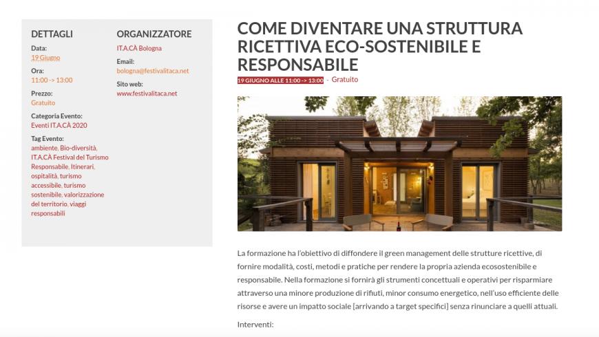 Come diventare una struttura ricettiva sostenibile e responsabile