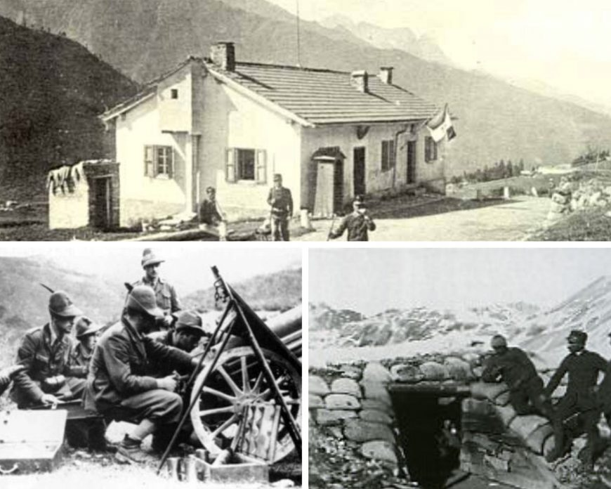 guerra bianca nel parco nazionale dello stelvio