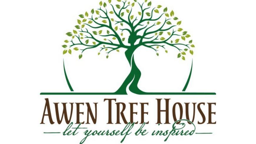 awen tree house logo e motto ecobnb