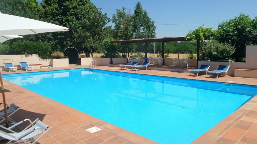 piscina nel verde di awen tree house