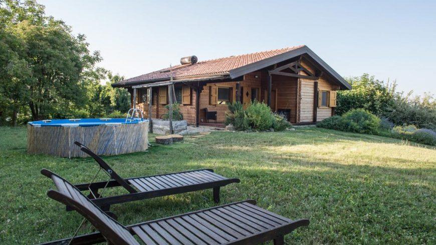 Un eco-cottage con vista sui Monti Sibillini