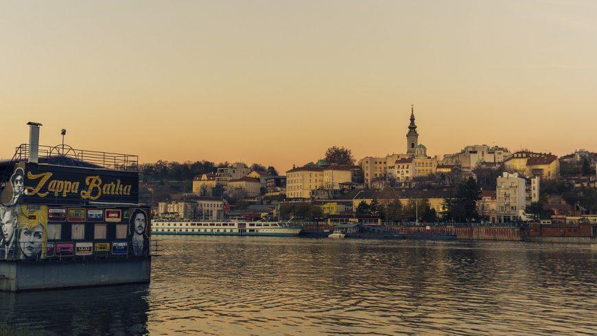 Tramonto a Belgrado