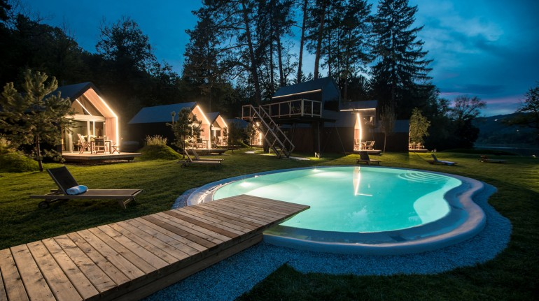 Campeggio chocolate river con piscina