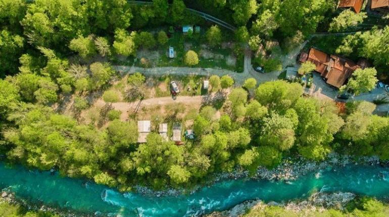 VIsta dall'alto del campeggio Eco Kamp Koren