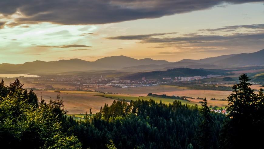 Paesaggio tramonto, Liptov, Slovacchia