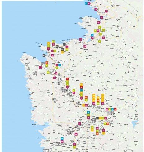 Parenzana: la mappa del percorso