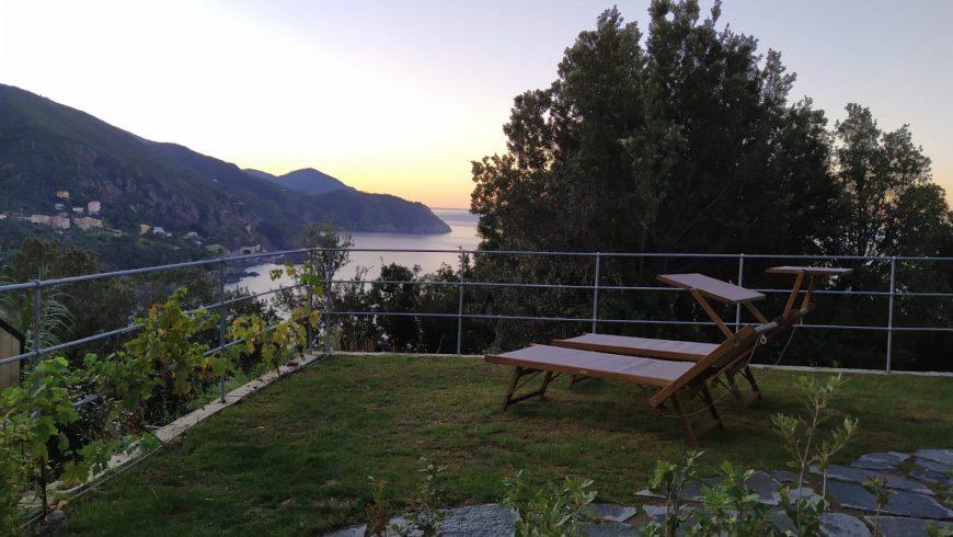 Un eco-cottage in un resort ligure