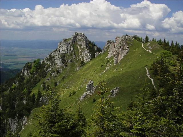 Panorama dalle montagne in Slovacchia