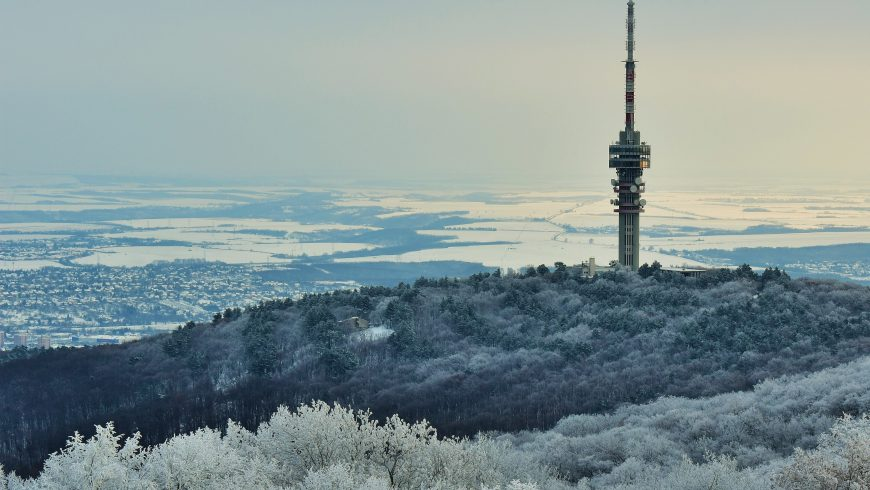 Paesaggio innevato Ungheria