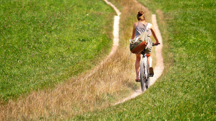 sentiero in bicicletta