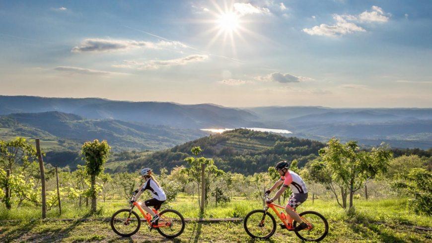 Ciclisti nel loro viaggio green in Istria