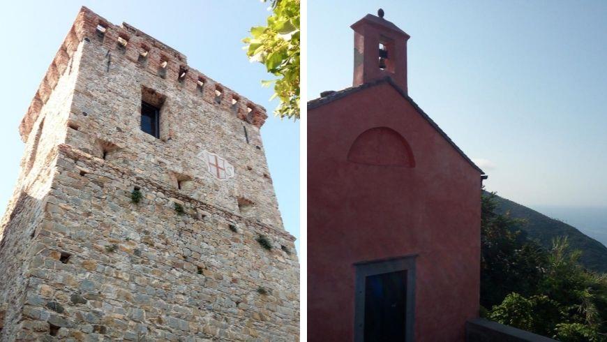 Framura: torre di guardia e chiesetta