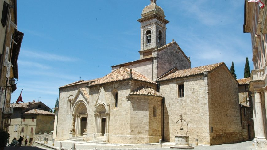 Collegiata dei Santi Quirico e Giuditta, edificio sacro gotico e barocco a San Quirico d'Orcia