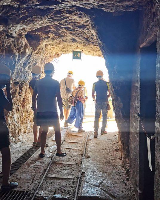 Tourists for Future all'interno di una antica miniera in Sardegna