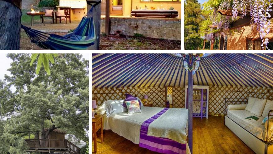 yurta e casa sull'albero