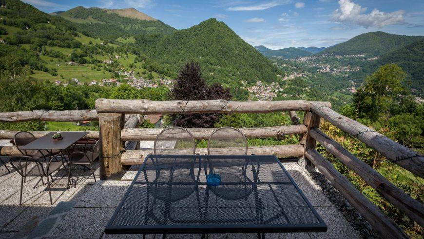 Terrazza panoramica agriturismo Al Marnich