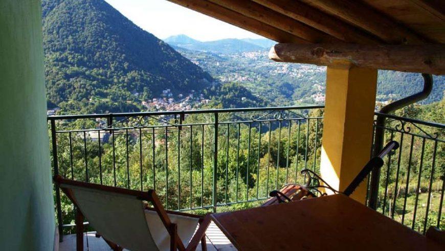 Terrazzo panoramico agriturismo Al Marnich