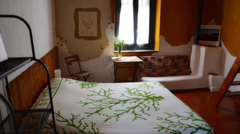 Camera da letto casa di paglia Felcerossa
