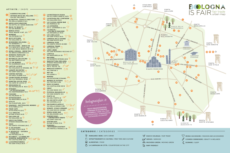 Bologna is fair urban map