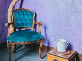 Sedia vintage all'hotel essenza sardegna