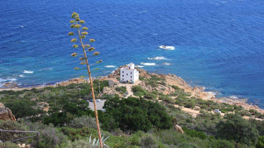 Faro di Capo Comino a Siniscola, Sardegna