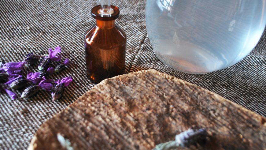 Olio essenziale di lavanda all'hotel Essenza Sardegna