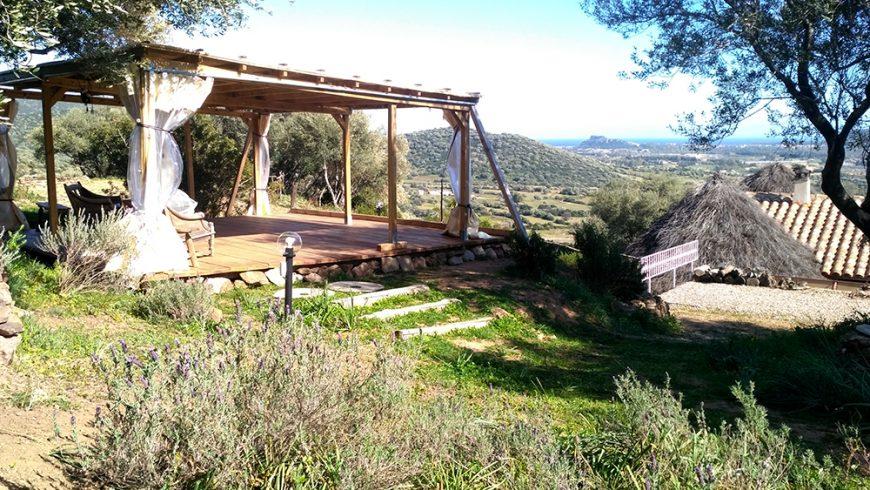 Gazebo vista mare all'hotel Essenza Sardegna