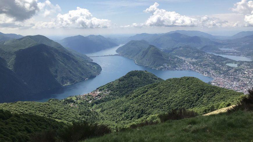 Vista del Lago di Lugano dal Monte Brè